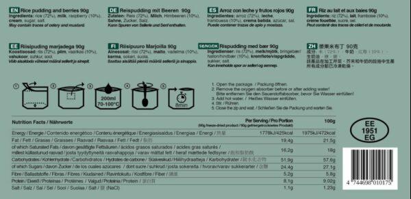 Reispudding und Beeren Inhaltsstoffe