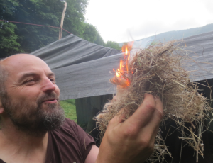 Bow Drill Fire Success
