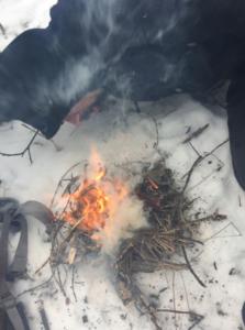Survival Feuer im Winter