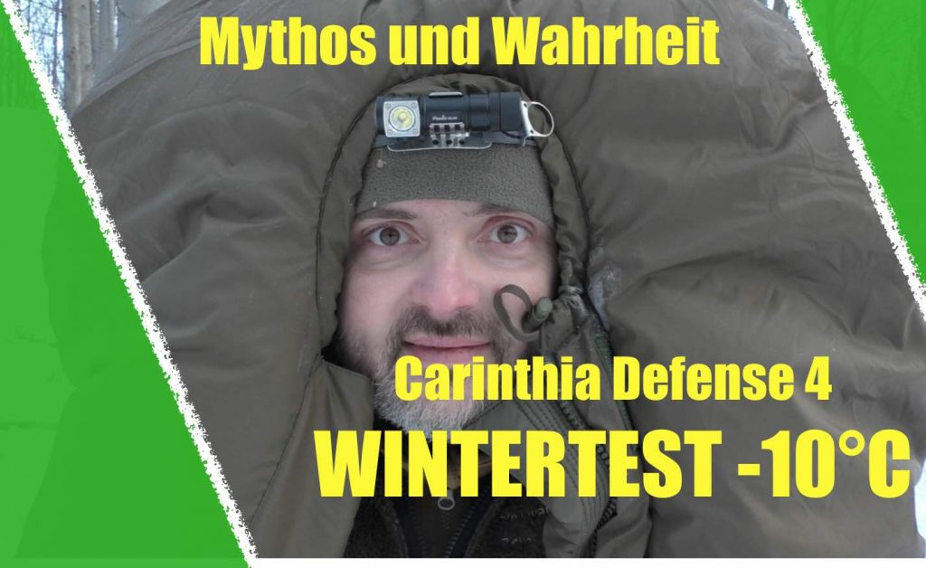 Survival Trainer Ausbildung im Winter-10°C Schlafsacktest
