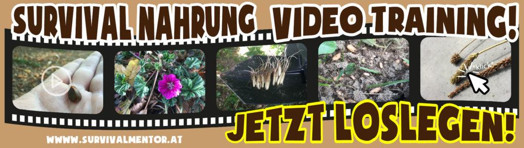 survival nahrung video training banner